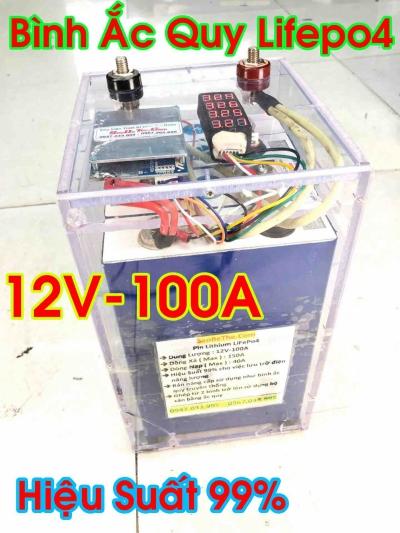 Pin Lithium Lifepo4 12V 100Ah